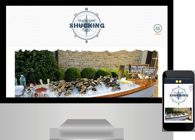 Shucking Truck web design