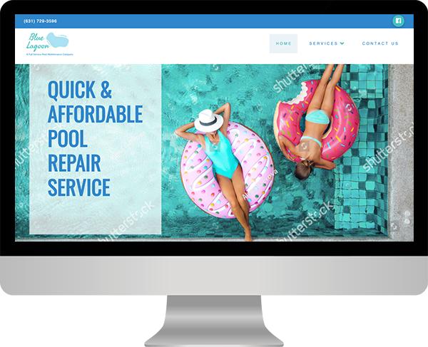 Long Island Web Design -blue lagoon pools