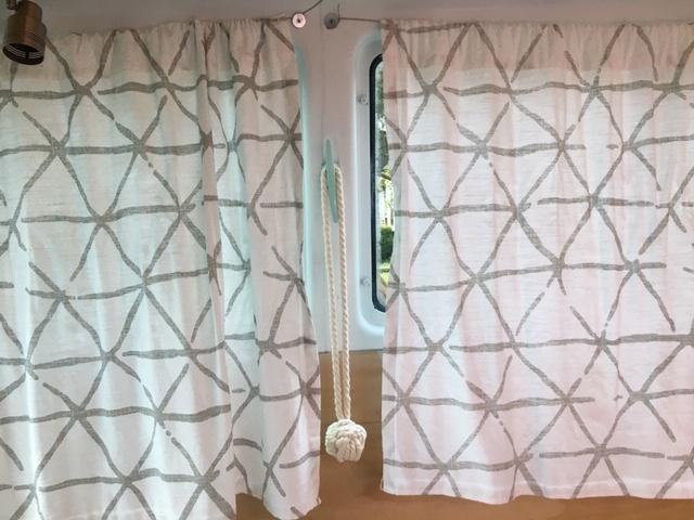 van curtains down