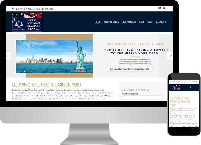 WNML Law Firm website