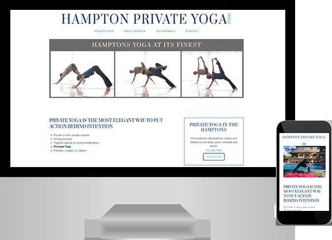 Hampton Private Yoga website